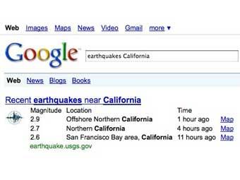 Google запустил поиск землетрясений
