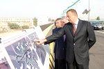 Президент Ильхам Алиев принял участие в открытии первой очереди нового дорожного узла [Фотосессия]